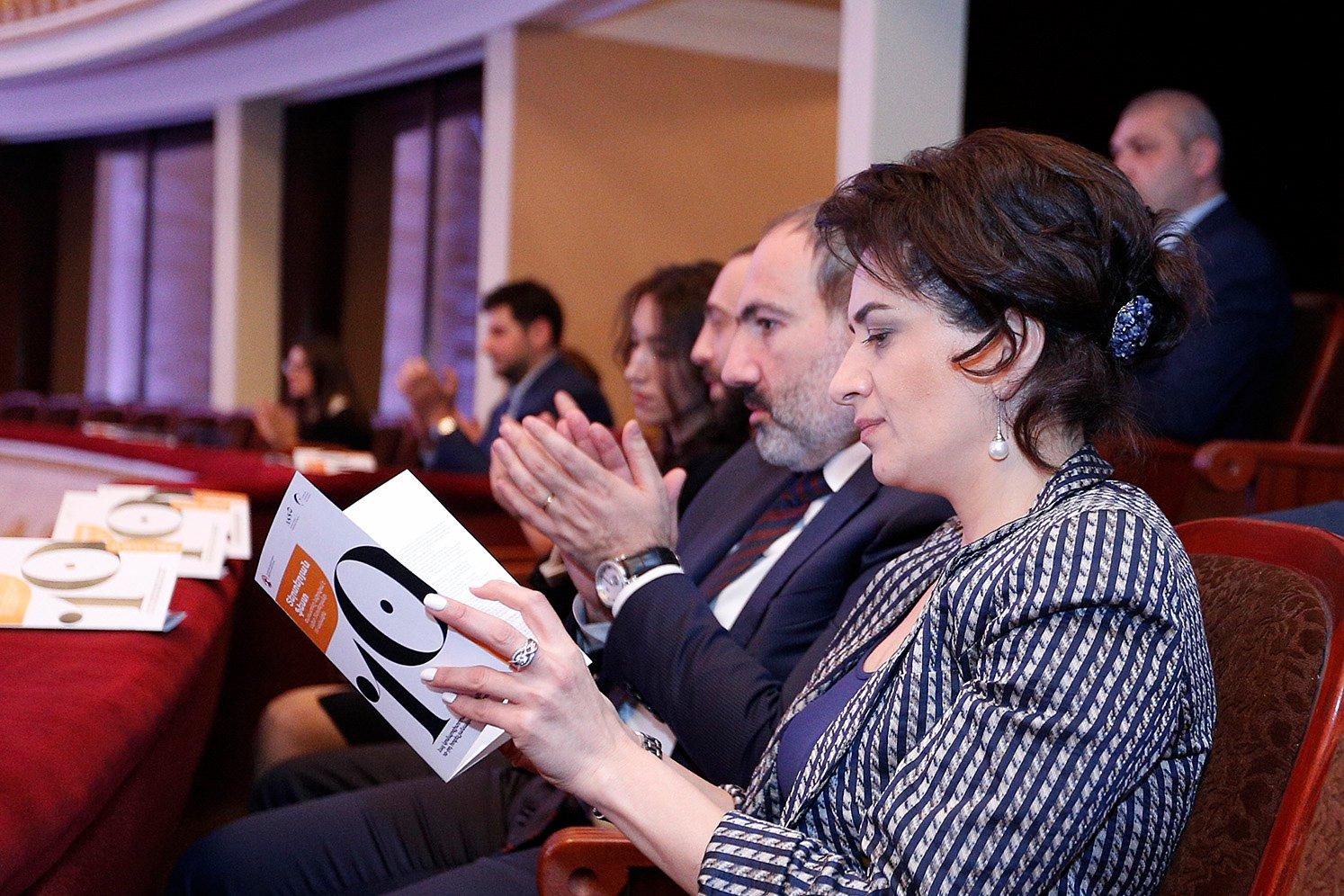 Նիկոլ Փաշինյանը և Աննա Հակոբյանը ներկա են գտնվել Հայ կոմպոզիտորական արվեստի 10-րդ փառատոնի բացմանը
