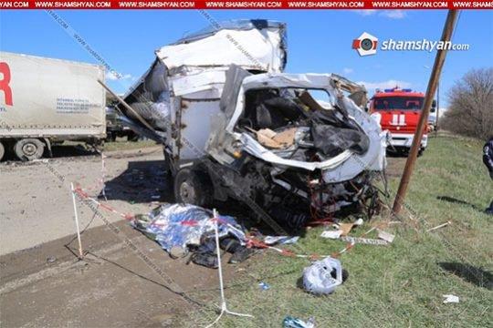 Լոռիում բախվել են Mercedes-ն ու բեռնատարը. կա 1 զոհ. բեռնատարի թուրք վարորդը հիվանդանոցում է