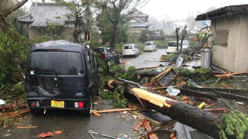 Թայֆունի պատճառով Ճապոնիայում 9 միլիոն մարդու խորհուրդ է տրվել տարհանվել