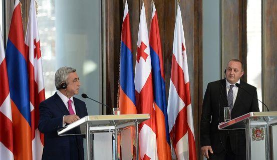 Սարգսյանը և Մարգվելաշվիլին մանրամասն քննարկել են տնտեսական համագործակցության հարցեր
