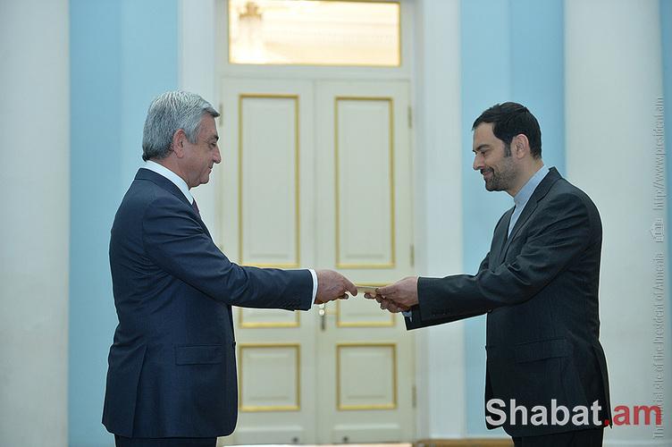 Սերժ Սարգսյանին իր հավատարմագրերն է հանձնել Իրանի նոր դեսպանը (լուսանկարներ)