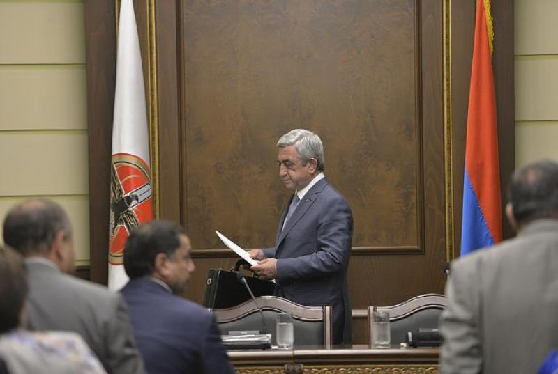 ՀՀԿ կենտրոնական գրասենյակում մեկնարկել է ՀՀԿ ԳՄ նիստը. այն վարելու է Սերժ Սարգսյանը