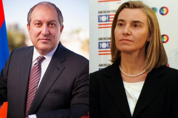 Արմեն Սարգսյանն ու Ֆեդերիկա Մոգերինին հեռախոսազրույցի ընթացքում քննարկել են Հայաստանում ստեղծված ներքաղաքական իրավիճակը