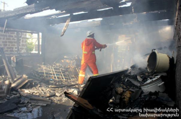 Վրացական փողոցի ավտոտնակներից մեկում հրդեհ է բռնկվել