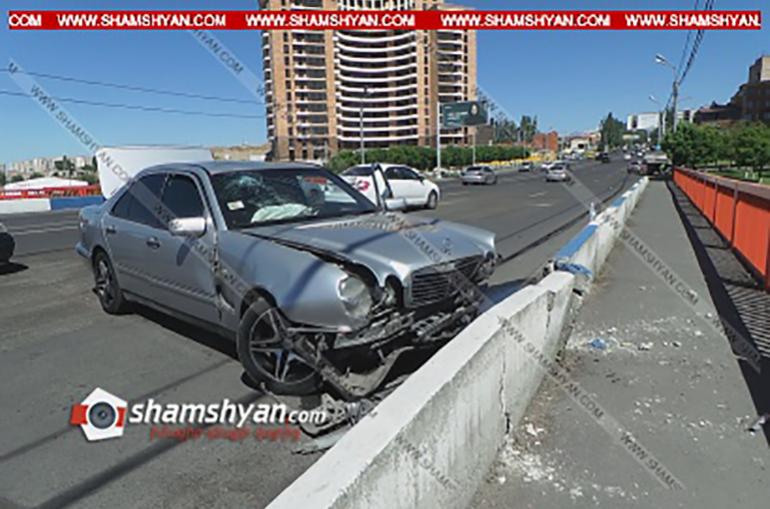 Դավթաշենի կամրջի մոտ միմյանց են բախվել Mercedes-ն ու Nissan-ը