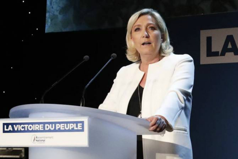 Ֆրանսիայում Լը Պենի «Ազգային միավորումը» եւ «Հառա՜ջ, հանրապետությունը» առաջատարներն են եվրաընտրություններում