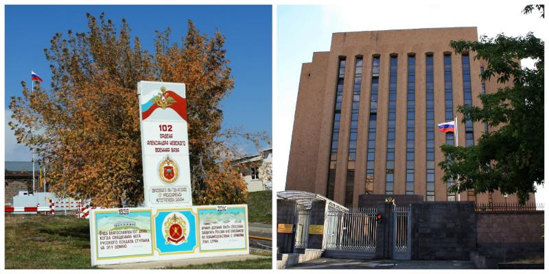 ՀՀ-ում ՌԴ դեսպանատան առջև տեղի կուեննա բողոքի ցույց՝ ընդդեմ Գյումրու ռուսական 102-րդ ռազմաբազայում  տիրող իրավիճակի