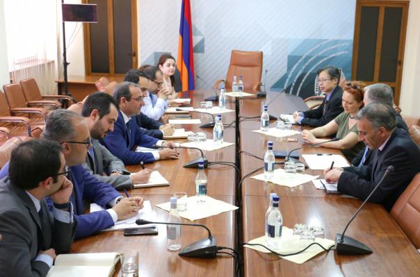 Արծվիկ Մինասյանը հանդիպում է ունեցել ԱԶԲ հայաստանյան գրասենյակի տնօրենի հետ