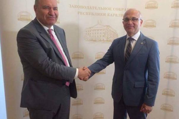 ՀՀ խորհրդարանականները ՌԴ Կարելիայի Օրենսդրական ժողովի նախագահի հետ քննարկել են երկկողմ հետաքրքրության հարցեր