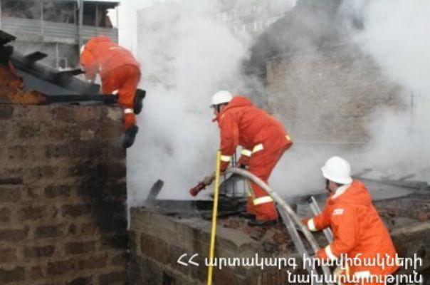 Երևանում երկհարկանի տունն ամբողջությամբ այրվել է