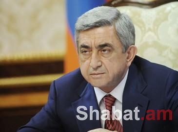 Սերժ Սարգսյանը ցավակցել է Թուրքիայի նախագահին