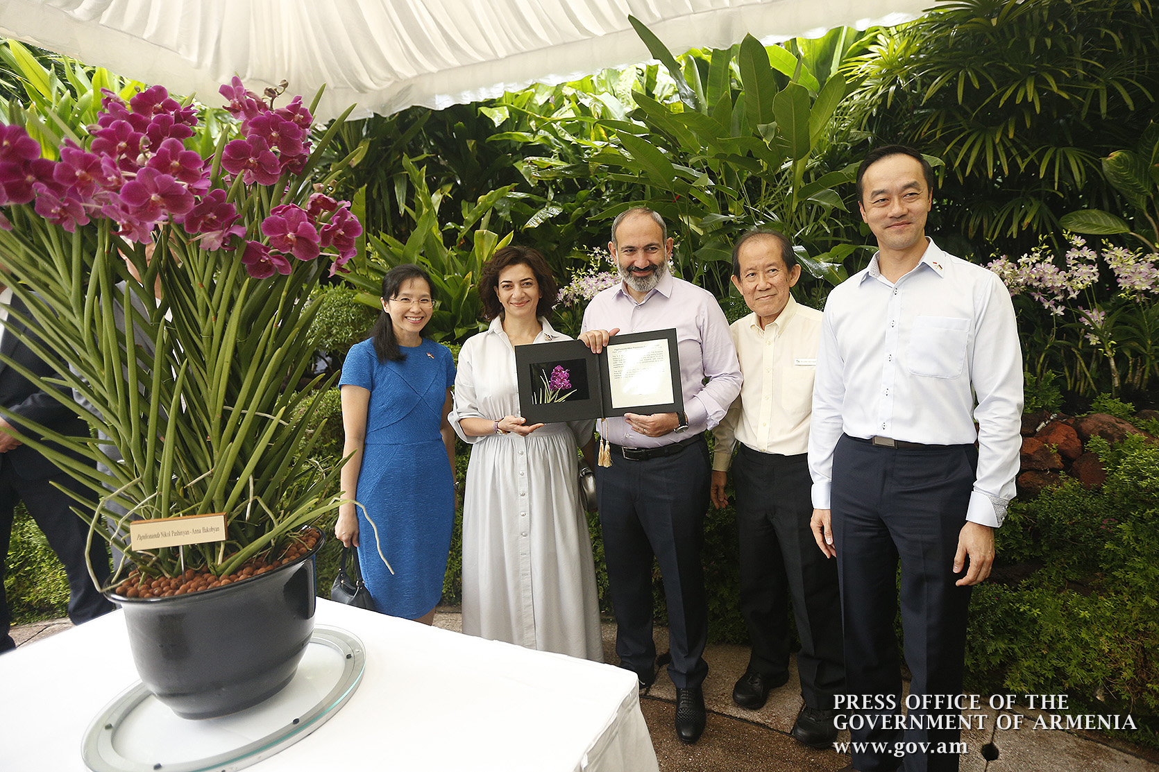 Նիկոլ Փաշինյանը և Աննա Հակոբյանն այցելել են Սինգապուրի բուսաբանական այգի