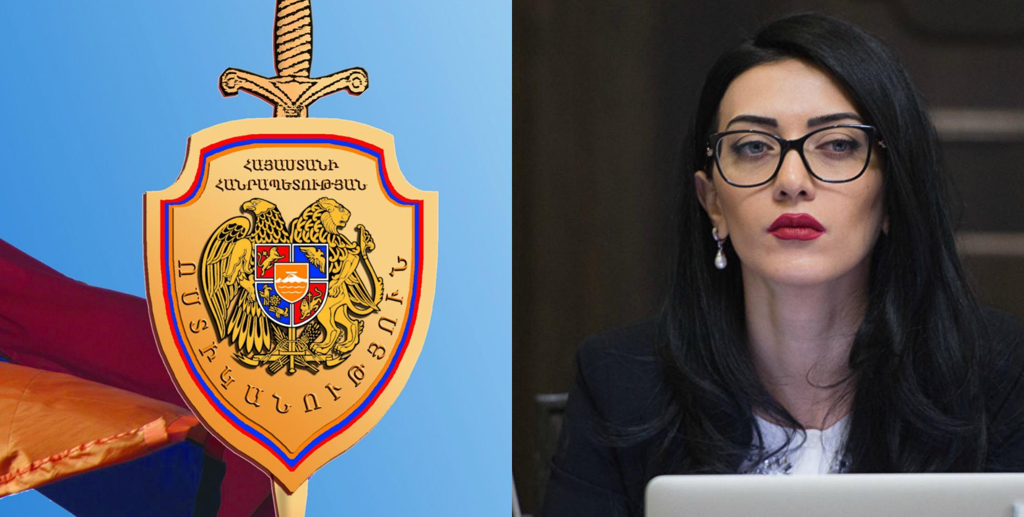Ոստիկանությունը պատասխանել է Արփինե Հովհաննիսյանին