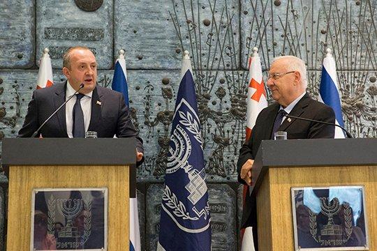 Վրաստանի ու Իսրայելի նախագահները քննարկել են տնտեսական կապերի ամրապնդման հարցը
