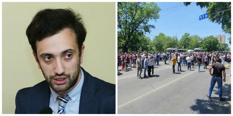 Բաղրամյանը փակողների մեջ քոչարյանական ակտիվիստները վխտում են. Դանիել Իոաննիսյան
