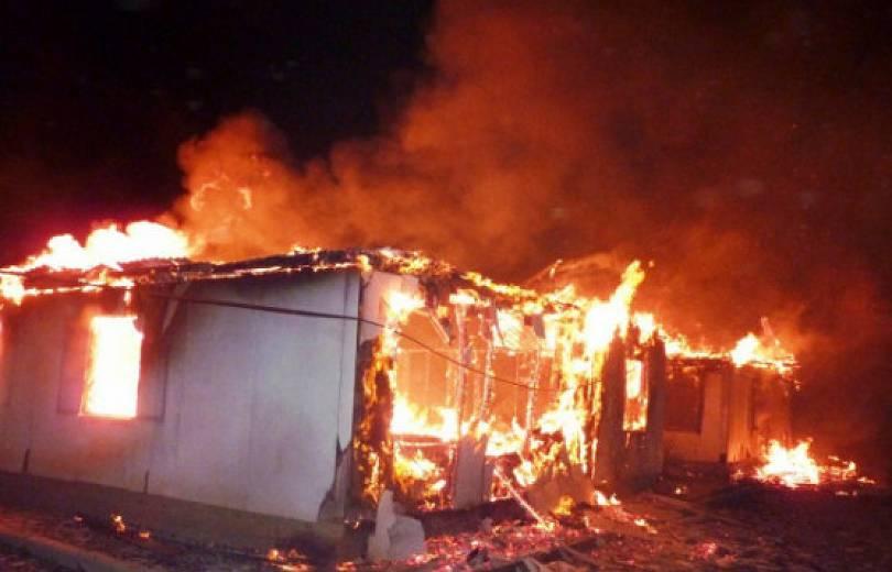Օձուն գյուղում տնակ է  այրվել