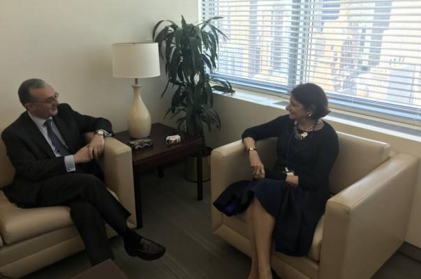 Զոհրապ Մնացականյանը հանդիպել է ՄԱԿ-ի գլխավոր քարտուղարի տեղակալին