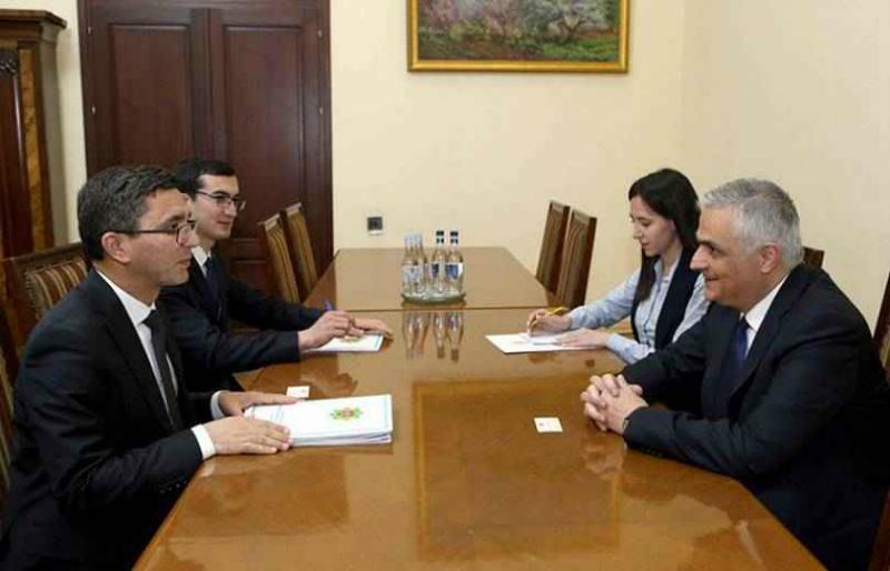 Մհեր Գրիգորյանն ու Թուրքմենստանի դեսպանը քննարկել են երկկողմ համագործակցությանն առնչվող հարցեր