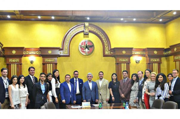ՀՀԿ նախագահ Սերժ Սարգսյանն ընդունել է IYDU պատվիրակներին