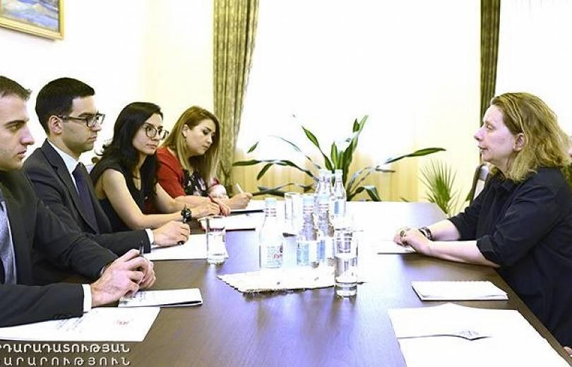 Ռուստամ Բադասյանն ընդունել է Եվրոպայի խորհրդի երեւանյան գրասենյակի ղեկավարին