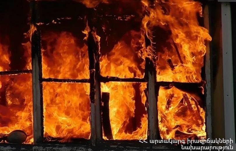 Ձորաղբյուր գյուղում գտնվող կահույքի արտադրամասում հրդեհ է բռնկվել