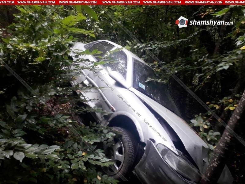 Մեքենան բախվել է երկաթե արգելապատնեշներին և 20 մետր առաջ ընթանալով՝ հայտնվել անտառում