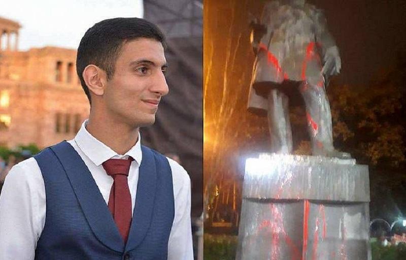 Շահեն Հարությունյանի կողմից Գրիբոյեդովի արձանը ներկելու փաստով քրեական գործի հարուցումը մերժվել է