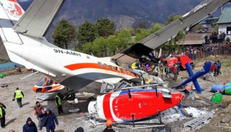 Ականատեսները նկարահանել են ինքնաթիռի աղետը Նեպալում. կան զոհեր