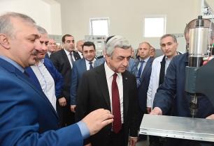 Սերժ Սարգսյանը ներկա է գտնվել ՀՀ–ում բարձրակարգ էլեկտրատեխնիկական սարքավորումների արտադրության մեկնարկին