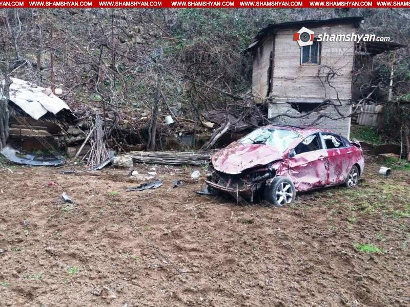 Սյունիքի մարզում Իրանի քաղաքացին իր մեքենայով ընկել է ձորը