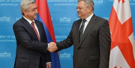 Նախագահը կարևորել է Վրաստանի դերը տարածաշրջանի անվտանգության և պահպանման գործում