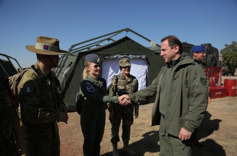 ՀՀ պաշտպանության նախարարը հետևել է խաղաղապահների վարժանքներին