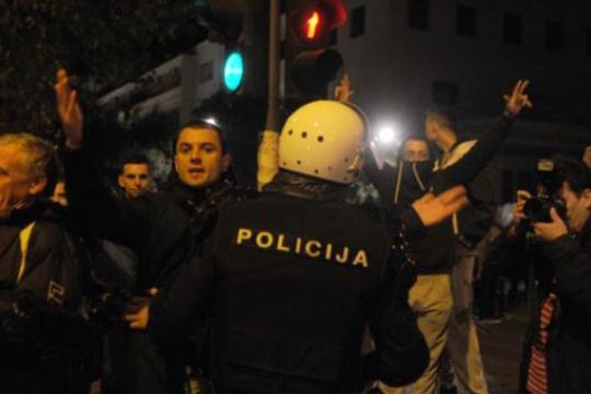 Պոդգորիցայում ոստիկանների և ցուցարարների միջև տեղի են ունեցել բախումներ