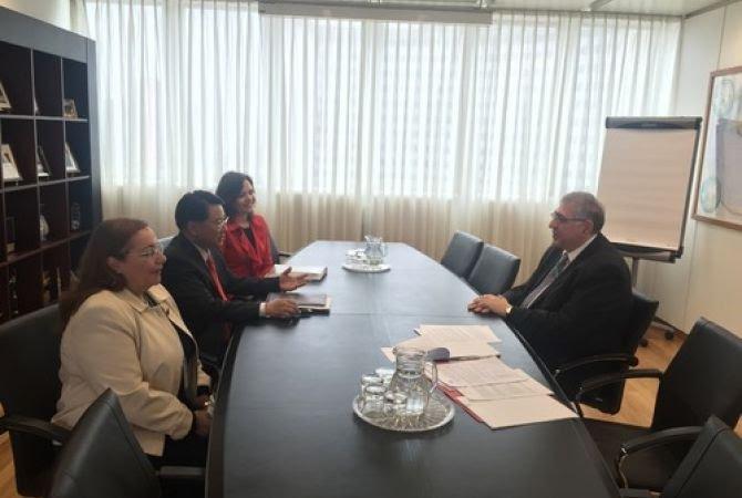 Դեսպան Կիրակոսյանը հանդիպում է ունեցել ՄԱԿ-ի արդյունաբերական զարգացման կազմակերպության գլխավոր տնօրենի հետ