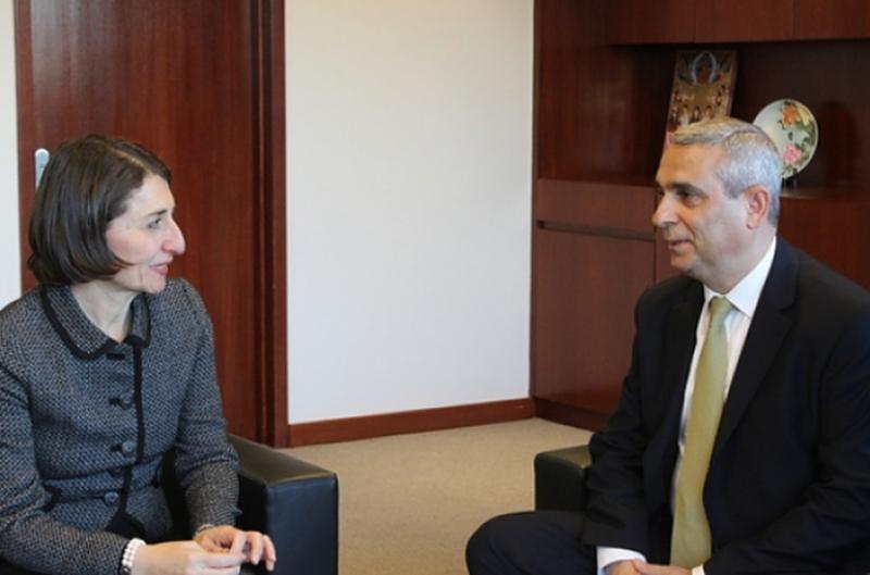 Արցախի ԱԳ նախարարն Ավստրալիայում հանդիպել է Նոր Հարավային Ուելս նահանգի վարչապետ Գլեդիս Բերեջիկլյանի հետ