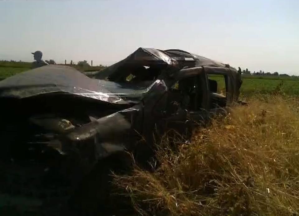 Էջմիածին-Արմավիր ավտոճանապարհին մեքենան դուրս է եկել երթևեկելի հատվածից