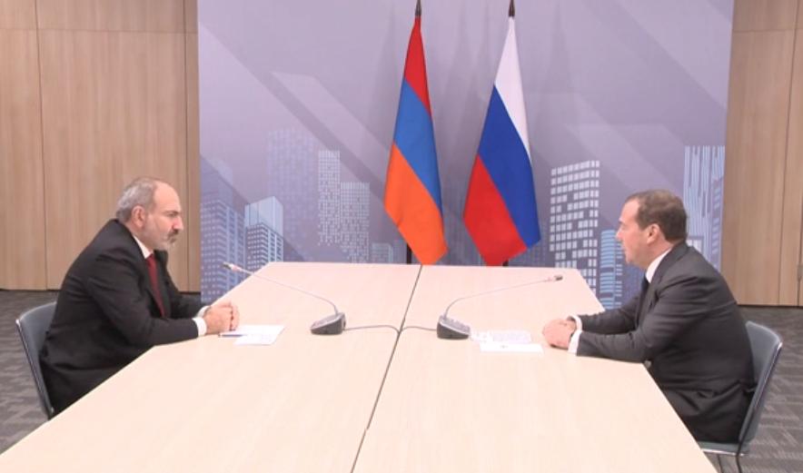 Հանդիպում եմ Ռուսաստանի Դաշնության վարչապետ Դմիտրի Մեդվեդեւի հետ