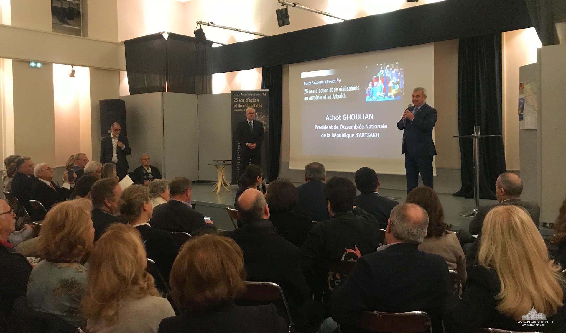 Արցախի պատվիրակությունը մասնակցել է «Հայաստան» հիմնադրամի Ֆրանսիայի կառույցի 25-ամյակի միջոցառմանը