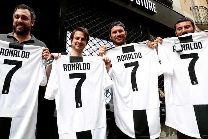 «Յուվենտուսի» երկրպագուները 55 միլիոն եվրո են ծախսել Ռոնալդուի մարզաշապիկների վաճառքի հենց առաջին օրը