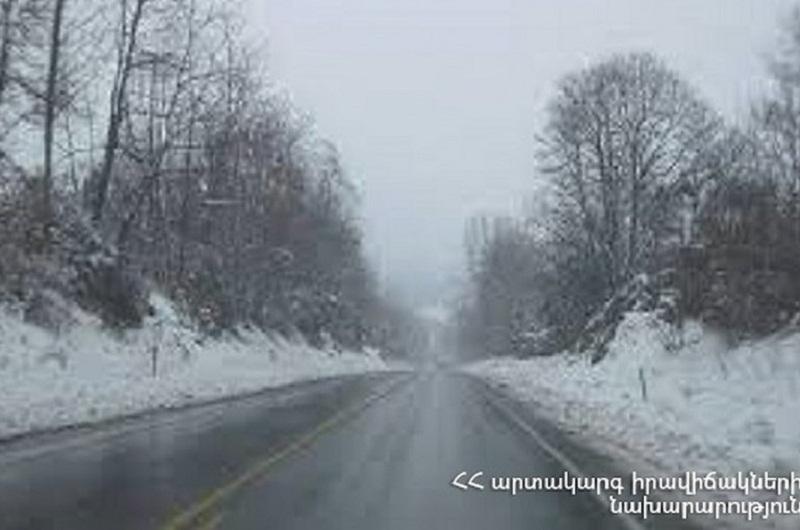 Սոթք-Քարվաճառ ավտոճանապարհը և Վարդենյաց լեռնանցքը բաց են բոլոր տեսակի ավտոմեքենաների համար, Ջերմուկում ձյուն է տեղում