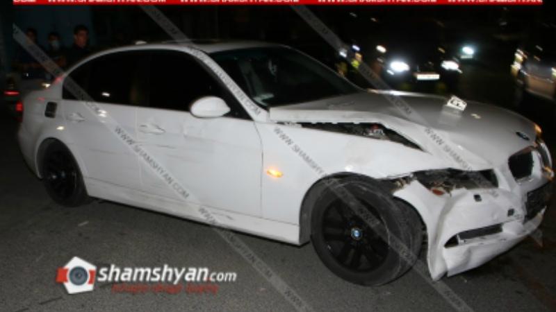 Խոշոր ավտովթար Երևանում. ճակատ-ճակատի բախվել են BMW-ն ու Nissan-ը