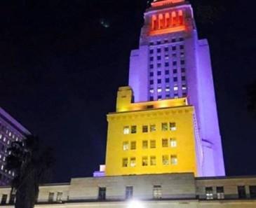 Լոս Անջելեսի քաղաքապետարանի շենքը «ներկվել է» եռագույնով