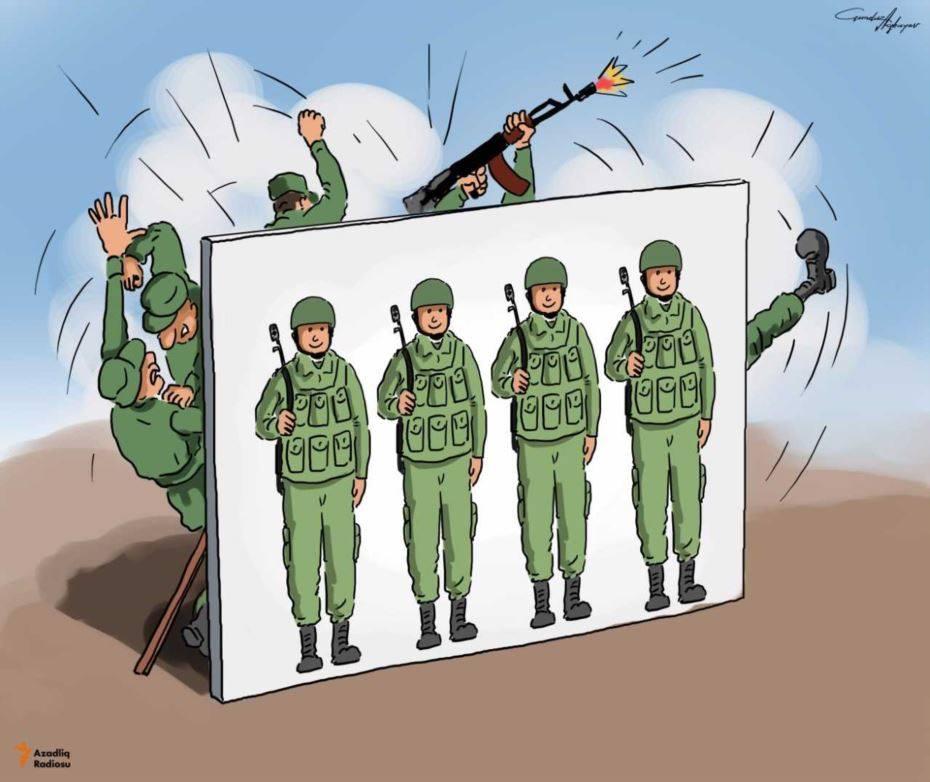 «Ադրբեջանի բանակի իրական պատկերի մասին հետաքրքիր մի ծաղրանկար»