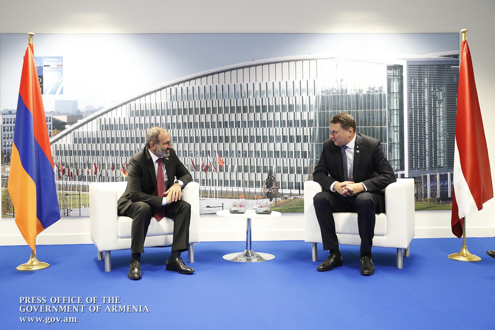 Նիկոլ Փաշինյանը Ռայմոնդս Վեյոնիսի հետ քննարկել է հայ-լատվիական հարաբերությունների հետագա զարգացմանն ուղղված հարցեր