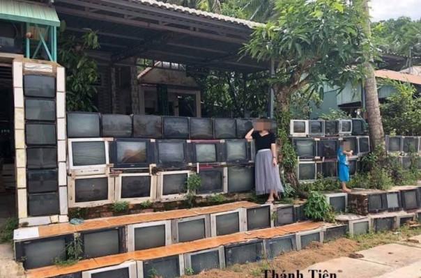 Վիետնամցին իր տունը ցանկապատել է տասնյակ հեռուստացույցներով (լուսանկարեր)