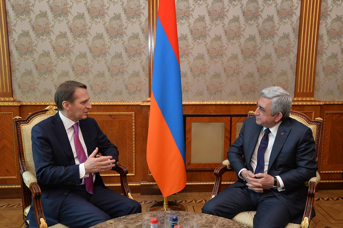Նախագահն ընդունել է ՌԴ Արտաքին հետախուզության ծառայության տնօրենին