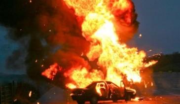 Սյունիքի մարզում ամբողջությամբ այրվել է «Մերսեդես» մակնիշի ավտոմեքենան
