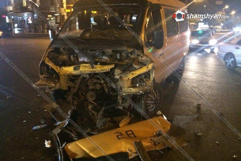 Երևանում 28 համարի երթուղայինը վթարի է ենթարկվել. Կան վիրավորներ