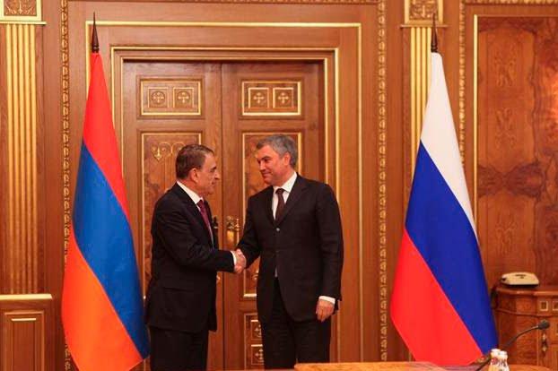 Հայ-ռուսական համագործակցությունը կշարունակի զարգանալ. ՀՀ ԱԺ և ՌԴ Պետդումայի նախագահները հանդիպել են