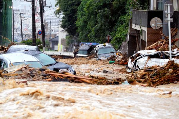 Ճապոնիայում տեղատարափ անձրևների հետևանքով զոհերի թիվը հասել է 76-ի. կա 90-ից ավելի անհետ կորած (լուսանկարներ)